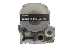 Epson LC-SD24KW, 24mm x 8m, fehér nyomtatás / fekete alapon, utángyártott szalag