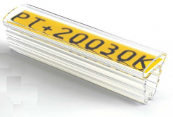 Partex PT+20015A kábeljelölő 15 mm, 100 db,(4,0 10,0 mm), PT átlátszó tok címkékre