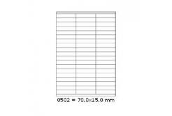 Öntapadós címkék 70 x 15 mm, 57 db / A4, 100 lap