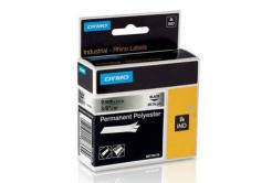 Dymo 18485, S0718170, 9mm x 5,5m, fekete nyomtatás / fémes alapon, eredeti szalag