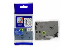 Brother TZ-FX121 / TZe-FX121, 9mm x 8m, flexi, fekete nyomtatás / átlátszó alapon, kompatibilis szalag
