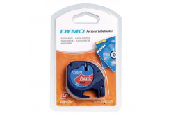 Dymo LetraTag 59424, S0721580 / 91203, S0721630, 12mm x 4m, ekete nyomtatás / piros alapon,eredeti szalag