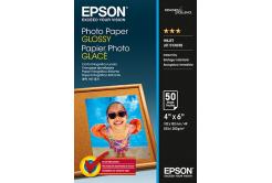 Epson S042547 Premium Glossy Photo Paper, fotópapírok, fényes, fehér, 10x15cm, 200 g/m2, 50 db