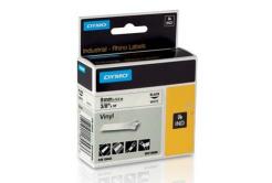 Dymo Rhino 18443, S0718580, 9mm x 5.5m fekete nyomtatás / fehér alapon, eredeti szalag