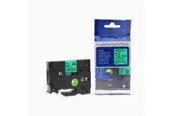 Brother TZ-731 / TZe-731, 12mm x 8m, fekete nyomtatás / zöld alapon, kompatibilis szalag