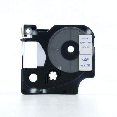 Dymo 45804, 19mm x 7m kék nyomtatás / fehér alapon, kompatibilis szalag