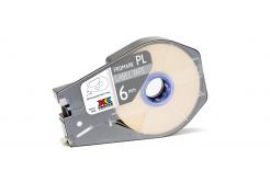 Partex PROMARK-PL060CN9, fehér öntapadó szalag, 6mm, 30m