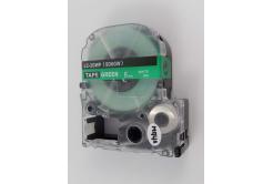 Epson LC-SD6GW, 6mm x 8m, fehér nyomtatás / zöld alapon, utángyártott szalag