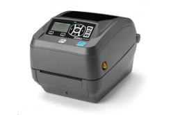 Zebra ZD500 ZD50043-T2E200FZ címkenyomtató, 12 dots/mm (300 dpi), cutter, RTC, ZPLII, multi-IF (Ethernet)