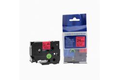 Brother TZ-451 / TZe-451, 24mm x 8m, fekete nyomtatás / piros alapon, kompatibilis szalag