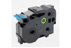 Brother TZ-FX561 / TZe-FX561, 36mm x 8m, flexi, fekete nyomtatás / kék alapon, kompatibilis szalag