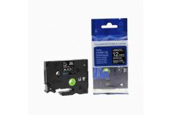 Brother TZ-335 / TZe-335, 12mm x 8m, fehér nyomtatás / fekete alapon, kompatibilis szalag