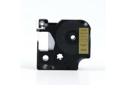 Dymo 40923, 9mm x 7m fekete nyomtatás / arany alapon, kompatibilis szalag