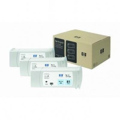 HP 81 C5070A világos cián (light cyan) eredeti tintapatron