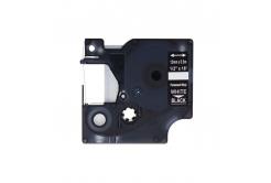 Dymo 1805435, 12mm x 5, 5m fehér nyomtatás / fekete alapon, vinyl, kompatibilis szalag