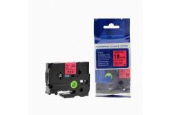 Brother TZ-441 / TZe-441, 18mm x 8m, fekete nyomtatás / piros alapon, kompatibilis szalag