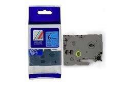 Utángyártott szalag Brother TZ-511 / TZe-511, 6mm x 8m, fekete nyomtatás / kék alapon