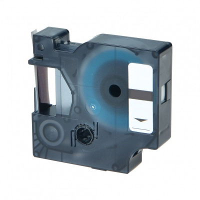 Dymo 1805416, 12mm x 5, 5m fehér nyomtatás / vörös alapon, vinyl, kompatibilis szalag
