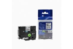 Brother TZ-FX541 / TZe-FX541,18mm x 8m, flexi, fekete nyomtatás / kék alapon, kompatibilis szalag