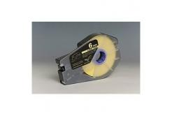 Utángyártott öntapadó papírszalag Canon M-1 Std/M-1 Pro / Partex, 6mm x 30m, kazetta, sárga