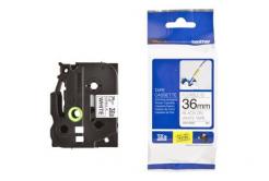 Brother TZ-FX261 / TZe-FX261, 36mm x 8m, fekete nyomtatás / fehér alapon, eredeti szalag