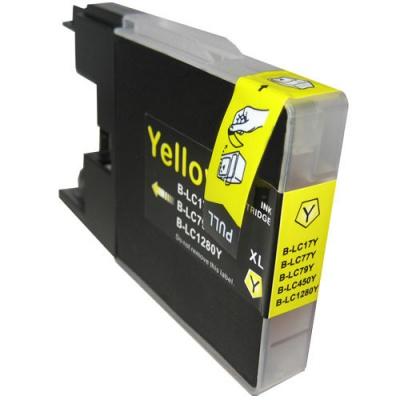 Brother LC-1240 / LC-1280 sárga (yellow) kompatibilis tintapatron