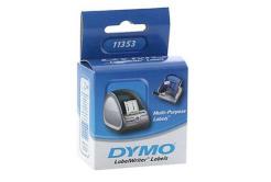 Dymo 11353, S0722530, 25mm x 13mm, fehér, eredeti címketekercs