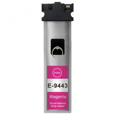 Epson T9443 bíborvörös (magenta) kompatibilis tintapatron