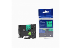 Brother TZ-721 / TZe-721, 9mm x 8m, fekete nyomtatás / zöld alapon, kompatibilis szalag