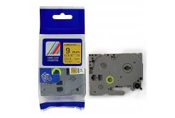 Brother TZ-821 / TZe-821, 9mm x 8m, fekete nyomtatás / arany alapon, kompatibilis szalag