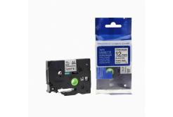 Utángyártott szalag Brother TZ-S231/TZe-S231 12mm x 8m erősen ragadó, fekete nyomtatás / fehér alapon