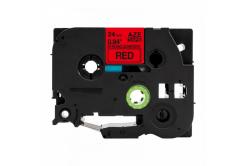 Brother TZ-S451 / TZe-S451, 24mm x 8m, extr.adh. fekete nyomtatás / piros alapon, kompatibilis szalag