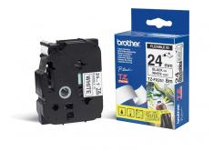 Brother TZ-FX251 / TZe-FX251, 24mm x 8m, fekete nyomtatás / fehér alapon, eredeti szalag