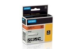 Dymo Rhino 18435, S0718490, 12mm x 5,5m fekete nyomtatás / narancssárga alapon, eredeti szalag