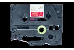 Brother TZ-RW34 / TZE-RW34, 12mm x 4m, arany nyomtatás / piros alapon, eredeti szalag