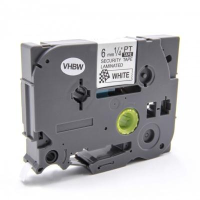 Brother TZ-SE1 / TZe-SE1, 6mm x 8m, fekete nyomtatás / fehér alapon, biztonság, kompatibilis szalag
