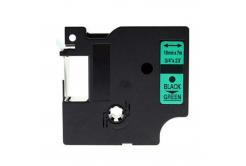 Dymo 45809, S0720890, 19mm x 7m, fekete nyomtatás / zöld alapon, kompatibilis szalag