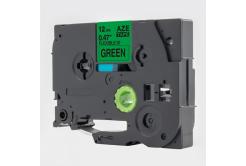 Brother TZ-FX731 / TZe-FX731, 12mm x 8m, flexi, fekete nyomtatás / zöld alapon, kompatibilis szalag