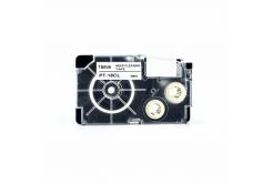 Casio XR-18CL, 18mm x 4m, fekete nyomtatás / fehér alapon, tisztítás, kompatibilis szalag
