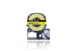 Epson LC-SC9YW, 9mm x 8m, fekete nyomtatás / sárga alapon, kompatibilis szalag