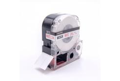 Epson LC-SS24RW, 24mm x 8m, piros nyomtatás / fehér alapon, kompatibilis szalag