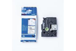 Brother TZE-FA4 / TZe-FA4, 18mmx3m, kék nyomtatás/fehér alapon, eredeti szalag zažehlovací