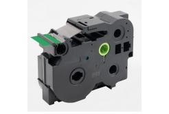 Brother TZ-FX761 / TZe-FX761, 36mm x 8m, flexi, fekete nyomtatás / zöld alapon, kompatibilis szalag