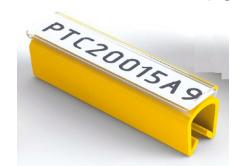 Partex PTC40015A9, fehér, 100 db, (5-6,2mm), PTC kábeljelölő hüvely pattintós