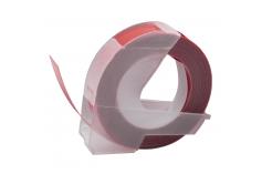Dymo Omega, 9mm x 3m, fehér nyomtatás / gesztenyebarna alapon, utángyártott szalag