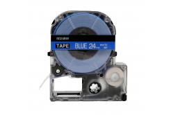 Epson LC-SD24BW, 24mm x 8m, fehér nyomtatás / kék alapon, utángyártott szalag