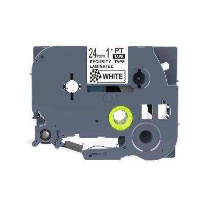 Brother TZ-SE5 / TZe-SE5, 24mm x 8m, fekete nyomtatás / fehér alapon, biztonság, kompatibilis szalag