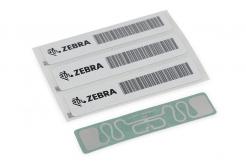 "Zebra RFID Wristband, Polypropylene, 30,2x279,4mm, TT, HF RFID Clip, Coated, 1"" core, 125/roll, Yellow"