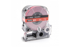 Epson LC-SD24RW, 24mm x 8m, fehér nyomtatás / piros alapon, utángyártott szalag