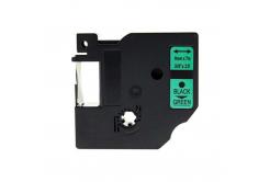 Dymo 40919, S0720740, 9mm x 7m fekete nyomtatás / zöld alapon, kompatibilis szalag
